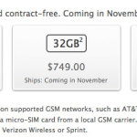 Unlocked iPhone 4S should be coming in November