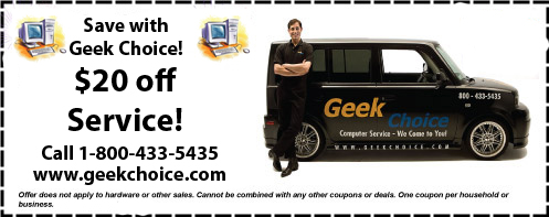 Coupons for Computer Repair & Service